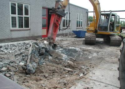 Sloop betonvloer met prikker