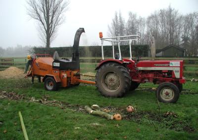 Tractor met Vandaele versnipperaar