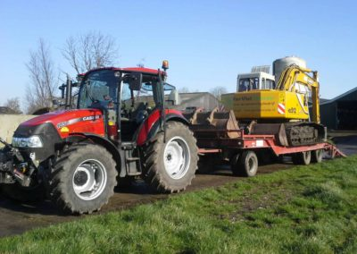Tractor met dieplader 2016